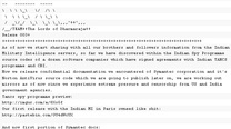 Click here to read Hackers Threaten to Dump Norton AntiVirus Source Code Tomorrow
