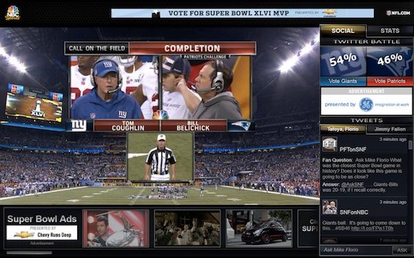 Super Bowl stream on NBCSports.com