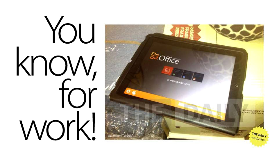 Click here to read Office for iPad Is Reportedly Imminent