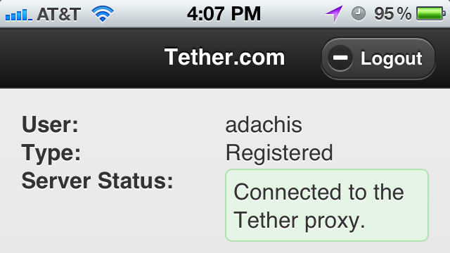 Click here to read Tether Webapp Shares Your iPhone's Data Connection with Your Mac or Windows PC, No Jailbreaking Required