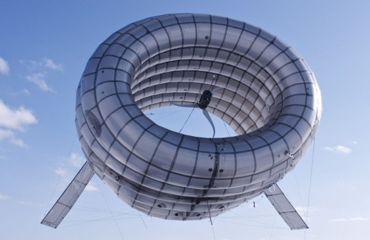 Helium-filled floating wind turbine, renewable energy with style