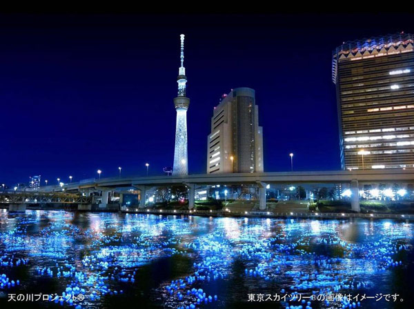 Panasonic sends 100,000 LEDs down Tokyo river, mates tech with tradition